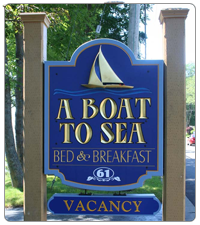 A Boat to Sea - Bed and Breakfast